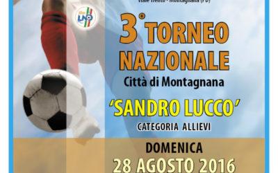 """3° Torneo Nazionale Allievi """"Sandro Lucco"""""""